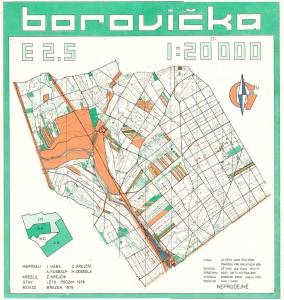 PMZ 1979 + ČsP Rohatec - mapa Borovička